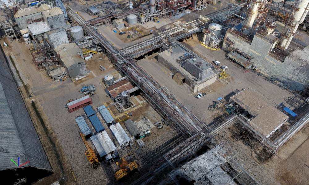 """Scan or """"as-build"""" large sites, allowing for project & construction planning,engineering/design, or simply to amalgamate existing 3D models into a baseline scan."""
