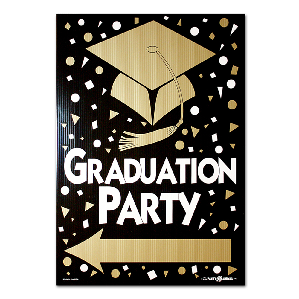 graduation party corrugated plastic yard sign garden flags and more