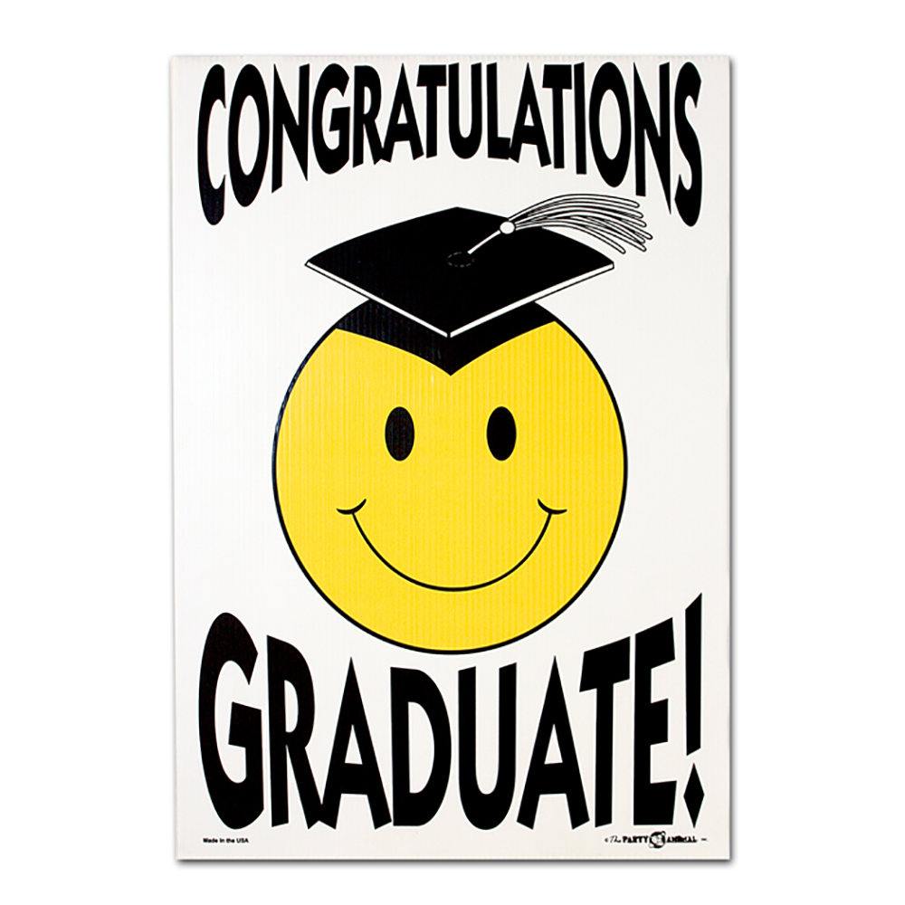 graduation smiley face lawn sign garden flags and more