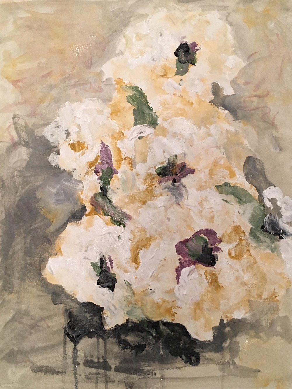 Neutral Floral Study  SOLD