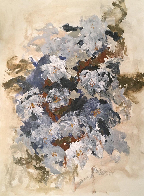 Blue Floral Study  SOLD
