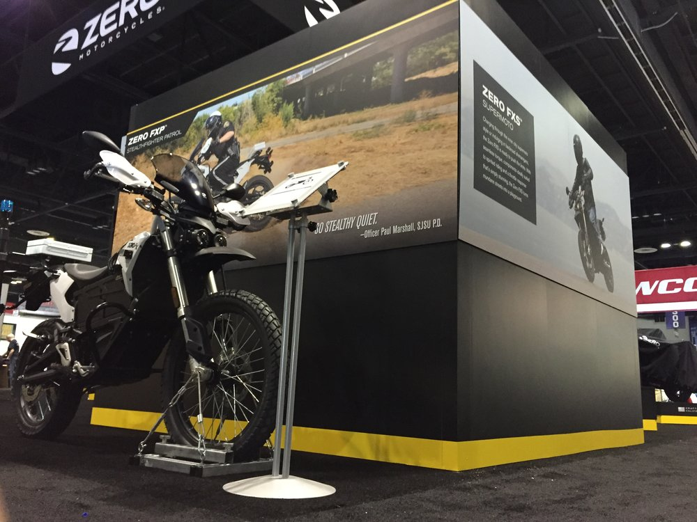Tradeshow displays - Zero was looking for large scale banners to go above bikes at the ICMA tradeshow. I went with full-bleed images with a bit of descriptive text to compliment the products below.