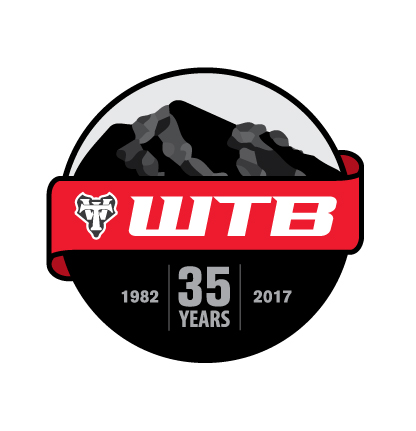 35 Yr Anniversary Logo - WTB tasked me with creating a special heritage logo to use throughout 2017. I incorporated Mount Tam, where mountain biking and WTB were born, and took a modern twist on old heritage.