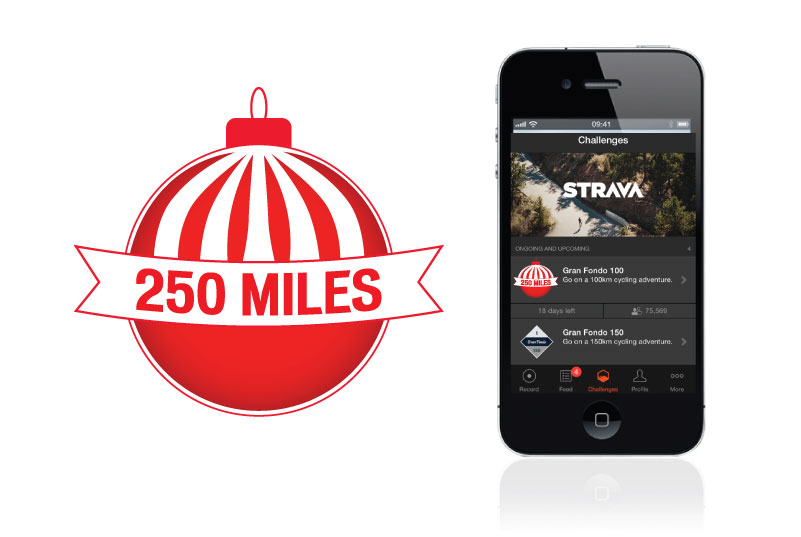Strava Badge - This badge was created for a Specialized holiday Strava challenge and was used on the app and merchandise.