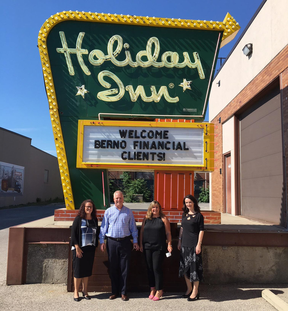From left, Berno Financial Management team Kimberly Masco, Bruce Berno, Donna Ellis, and Joanne Skinner at the firm's 25th anniversary celebration.