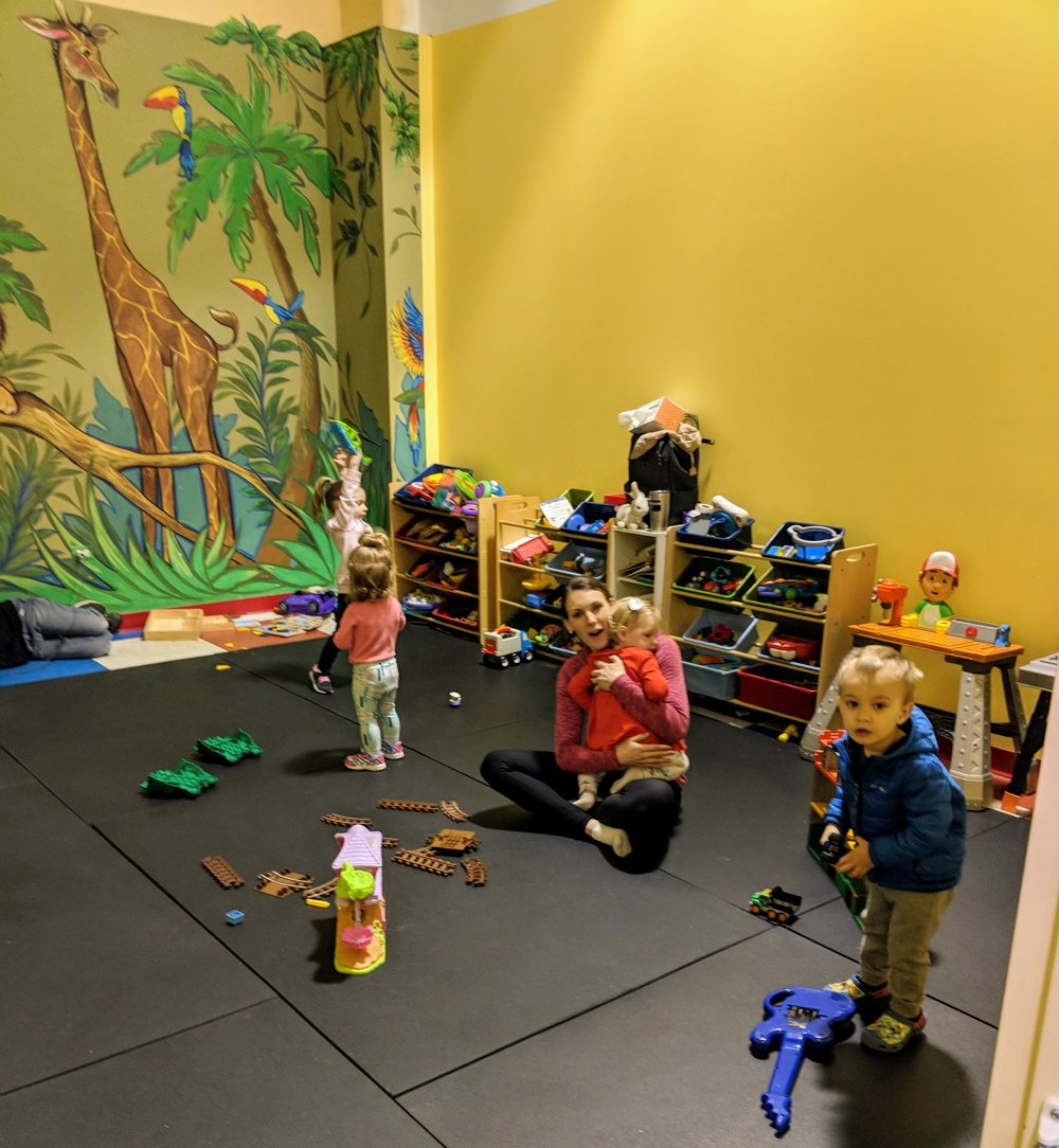 Supervised child care is included in our membership during specific classes times. -