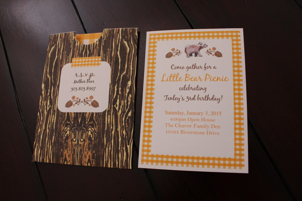 Little Bear Invitation and Sleeve