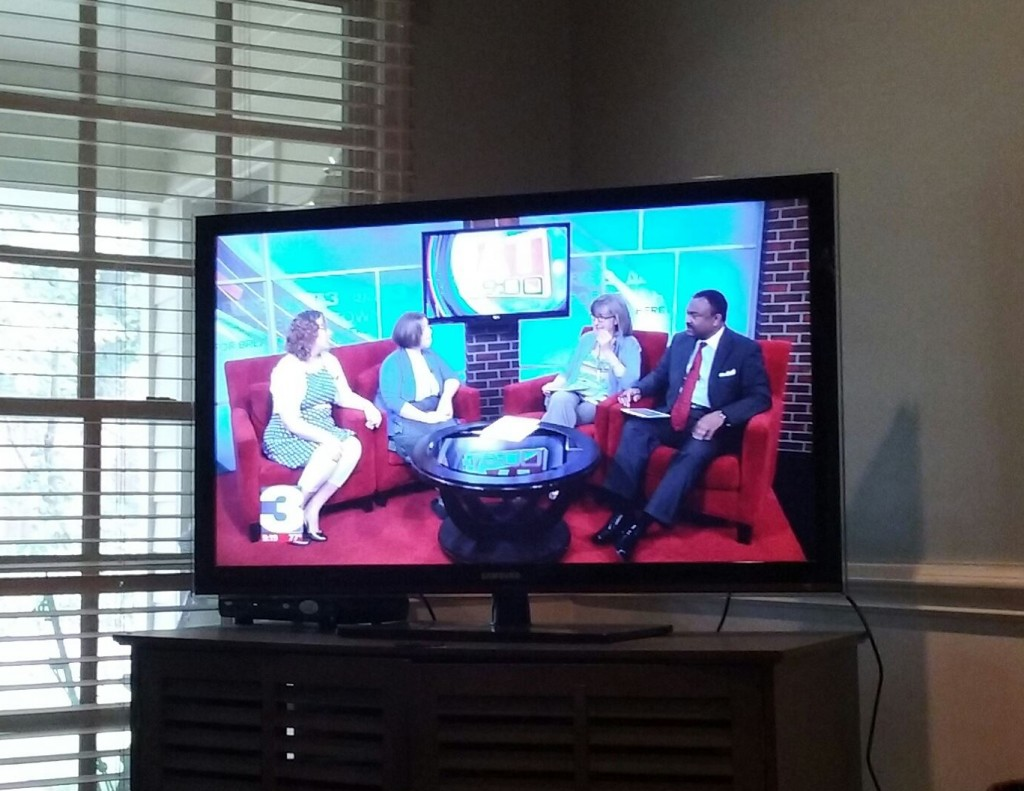 It's fun to be on the news and know that friends and family are supporting you from home!