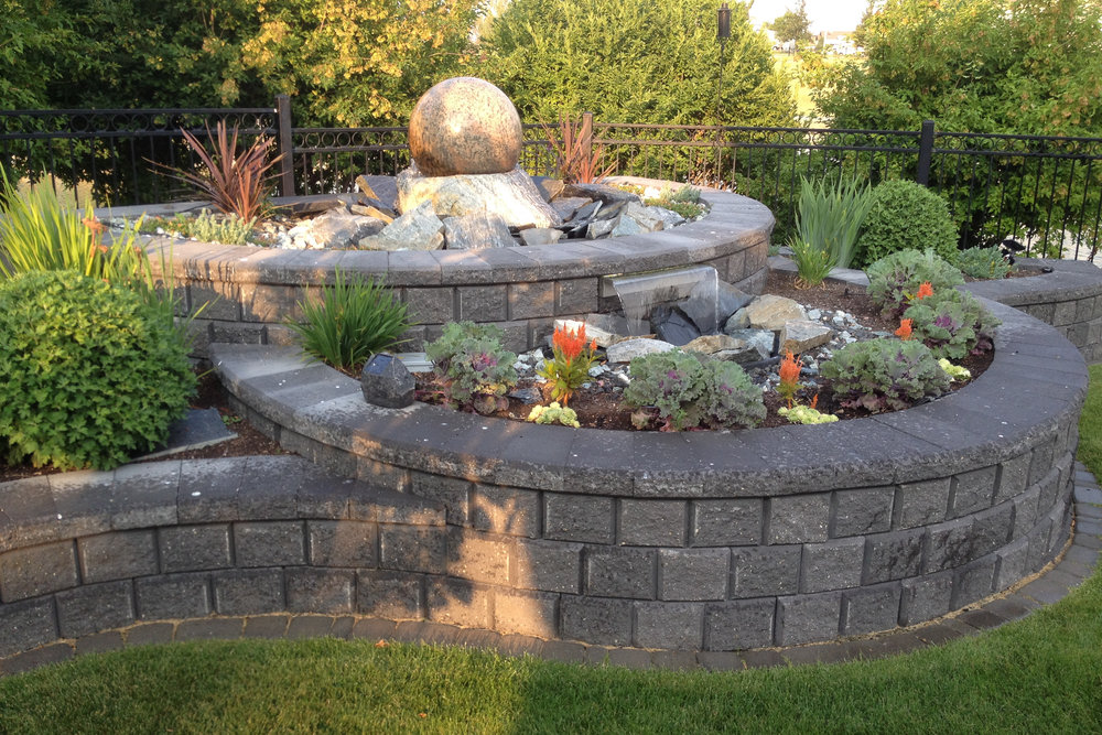 Create raised beds with these beautiful retaining wall blocks.