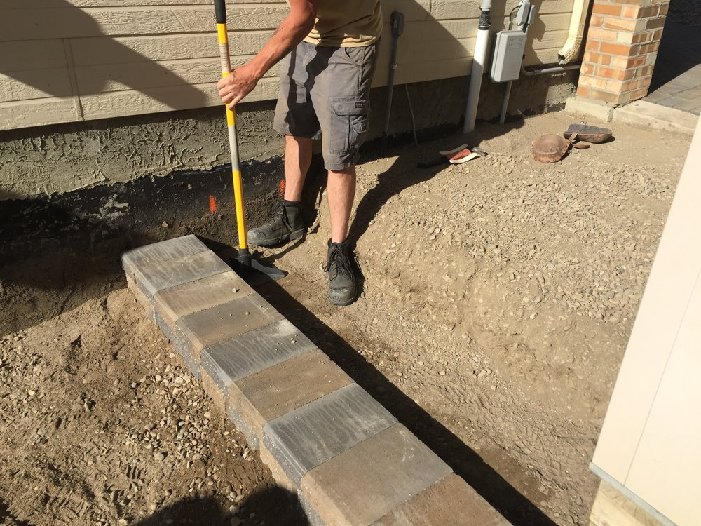 Backfill and prepare for the next course of steps.