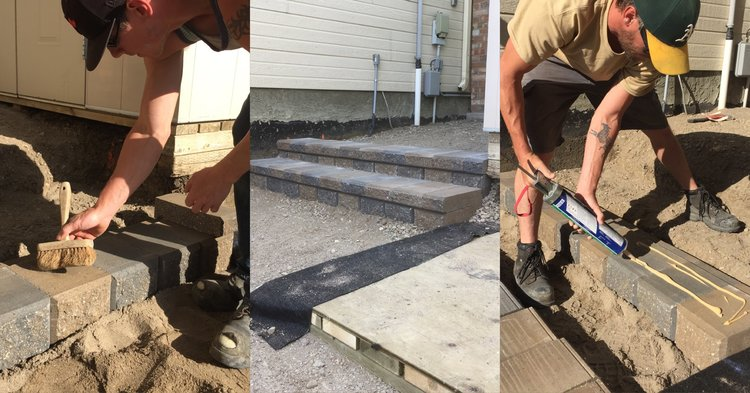 How to Install Steps With Retaining Wall Blocks — Hilgersom Inc