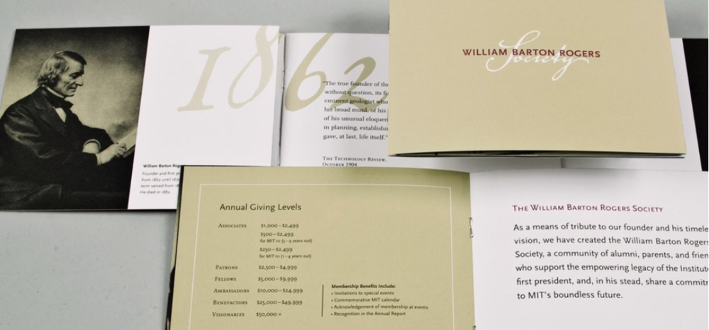 MIT William Barton Rogers Society Identity & Promotional Materials