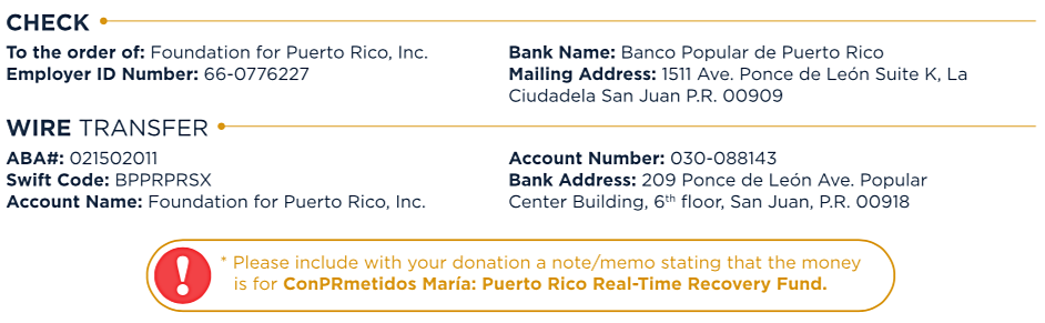 Check and Wire Transfer info