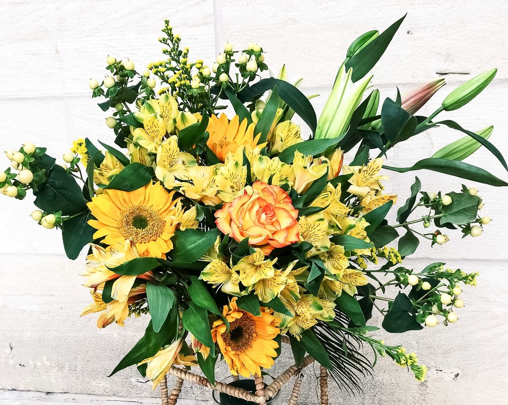 Order &Pick Up In Store - At Nirvana Flower Shop, we create beautiful fresh arrangements for any occasion. Please place an order at least 3-4 days in advance before the special day. All orders should be picked up at our Huebner Oaks location.