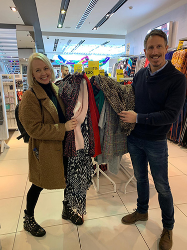 Personal shoppers for the day, Jayne and Nick