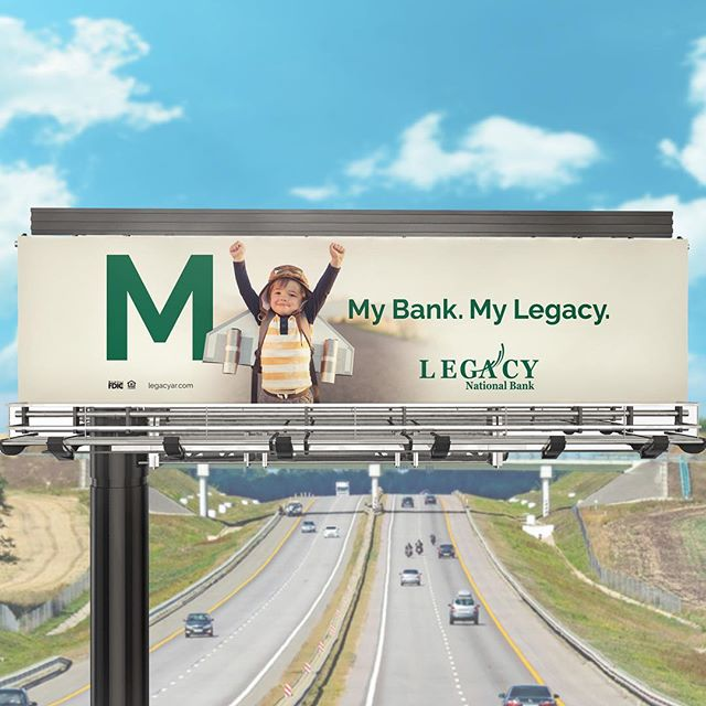 Been fun busting out creative for @ziplinestudio on the newly launched campaign for Legacy Bank. Check out the new billboard while you're zooming around NWA. Thanks @bret_co for all the good copy work! #brittanyphillipsdesign #goodworkwithgoodpeople