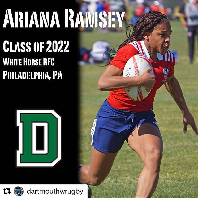 Congrats to our very own speester Ari! #Repost @dartmouthwrugby (@get_repost) ・・・ Welcome to #TheWoods! Give a rouse for one of our newest #dartmouth22s - Ariana Ramsey, USA U18 7s player from Philadelphia, PA! #upupBigGreen🌲💚🏉 @dartmouthcollege 📸: @therugbybreakdown