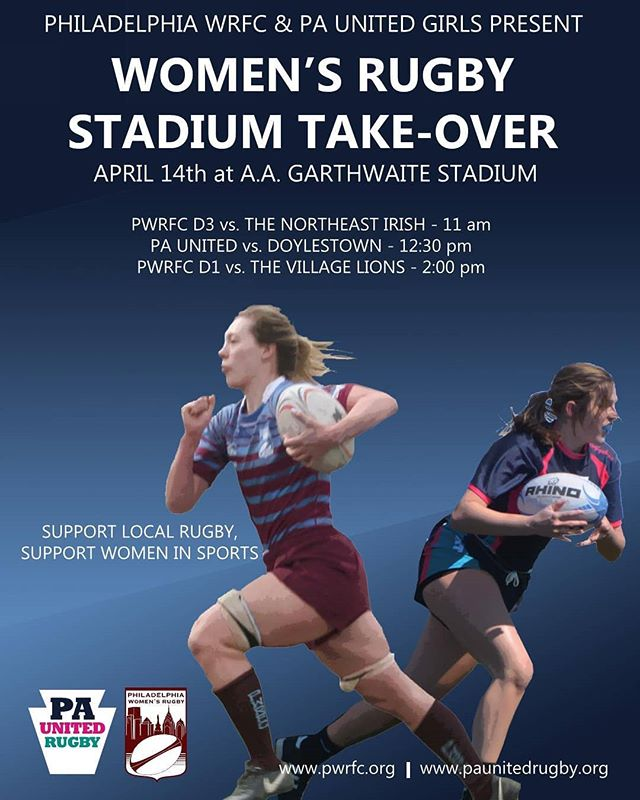 Come see us in action this week! We are going to have a triple header at our home stadium with @phillywomensrugby! What better way to enjoy the forecasted sunny skies than with some rugby!  #phillyrugby #girlsrugby #hsrugby #wevebeenwaitingallyearforthis #whoruntheworld