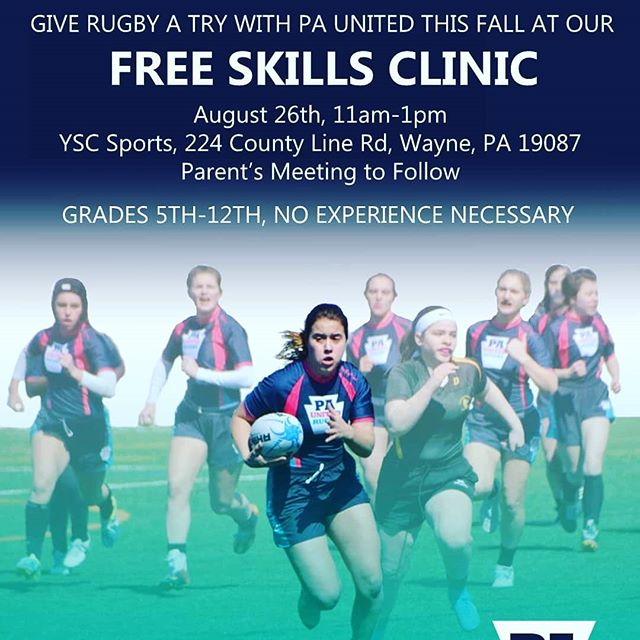 We are back in action!! Come check out our open clinic for all to try rugby on August 26. #girlsrugby #rugby #phillyrugby #whoruntheworld #girls