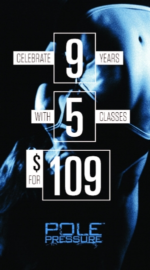 Through our amazing students, we've created a wonderful pole family and home throughout the years! As a THANK YOU please enjoy this discounted 5 class pack -