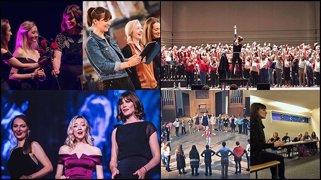 Happy International Women's Day! It's the first year that we've had not just two, but three fabulous ladies in VOCES8, so here's some pictures of them doing what they do best; inspiring others through their singing, teaching and creativity.