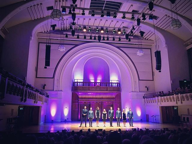 Full house last night at Cadogan Hall, London. Tons of friends and family in the audience and we felt so supported. Can't wait to return soon! #voces8athome