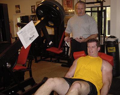 Jim Flanagan teaching proper strength training