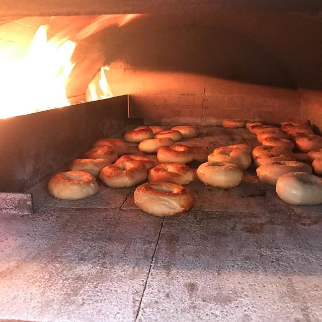 Wood fired bagels and whole grain sourdough bread at the East Aurora Co-op today! #woodfiredbagels #eastaurorany