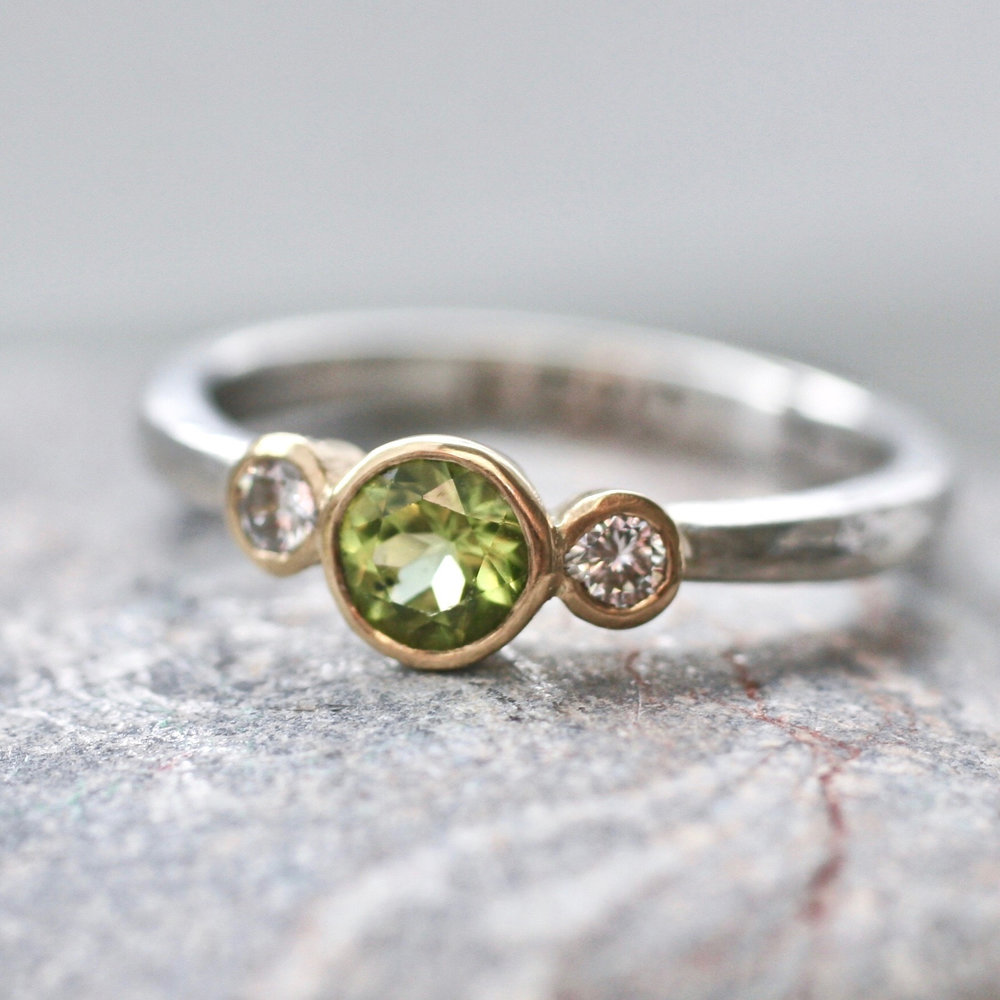 Glasswing ethical peridot and diamond triple ring.jpg