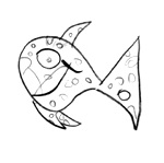 Liv's Fish - my daughter's drawing - it's always on website