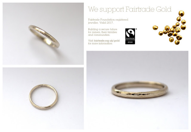 Glasswing Jewellery fairtrade gold rings handmade wedding ethical