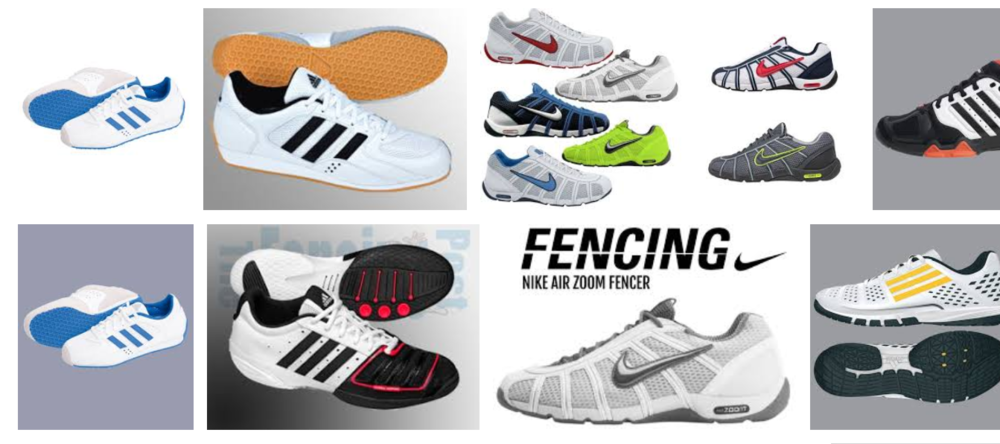 Display of fencing shoes selection