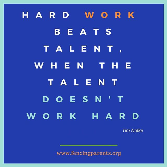 As we start the new fencing year, please remember this! We make our own opportunities!