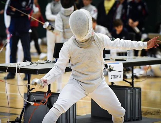 Fencing a foil event at a ROC in 2017