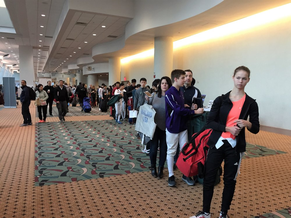 Long lines to check-in at the October NAC in Milwaukee with the new ticketing policy (photo taken 7.20am, Saturday. October 13)