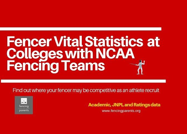 Every parent with a fencer in high school wants to know if their kid has a shot at being an athlete recruit to an NCAA fencing program. Use this Handbook to determine where your fencer may be competitive as an athlete recruit. URL is in our profile.
