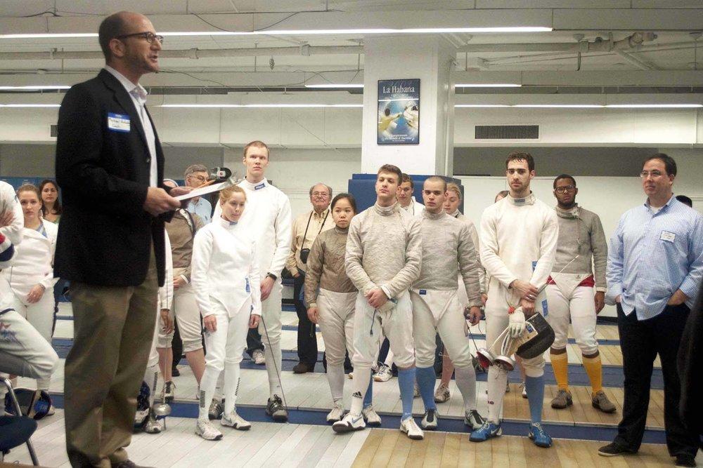 Michael Aufrichtig, Head Coach at Columbia University Fencing