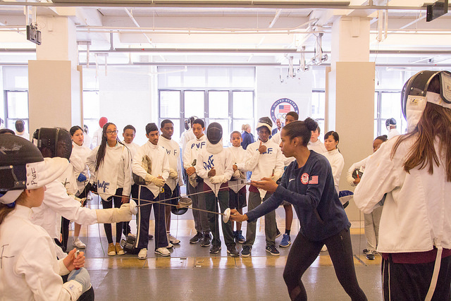 Saturday Fencing Program - courtesy of Peter Westbrook and PWF