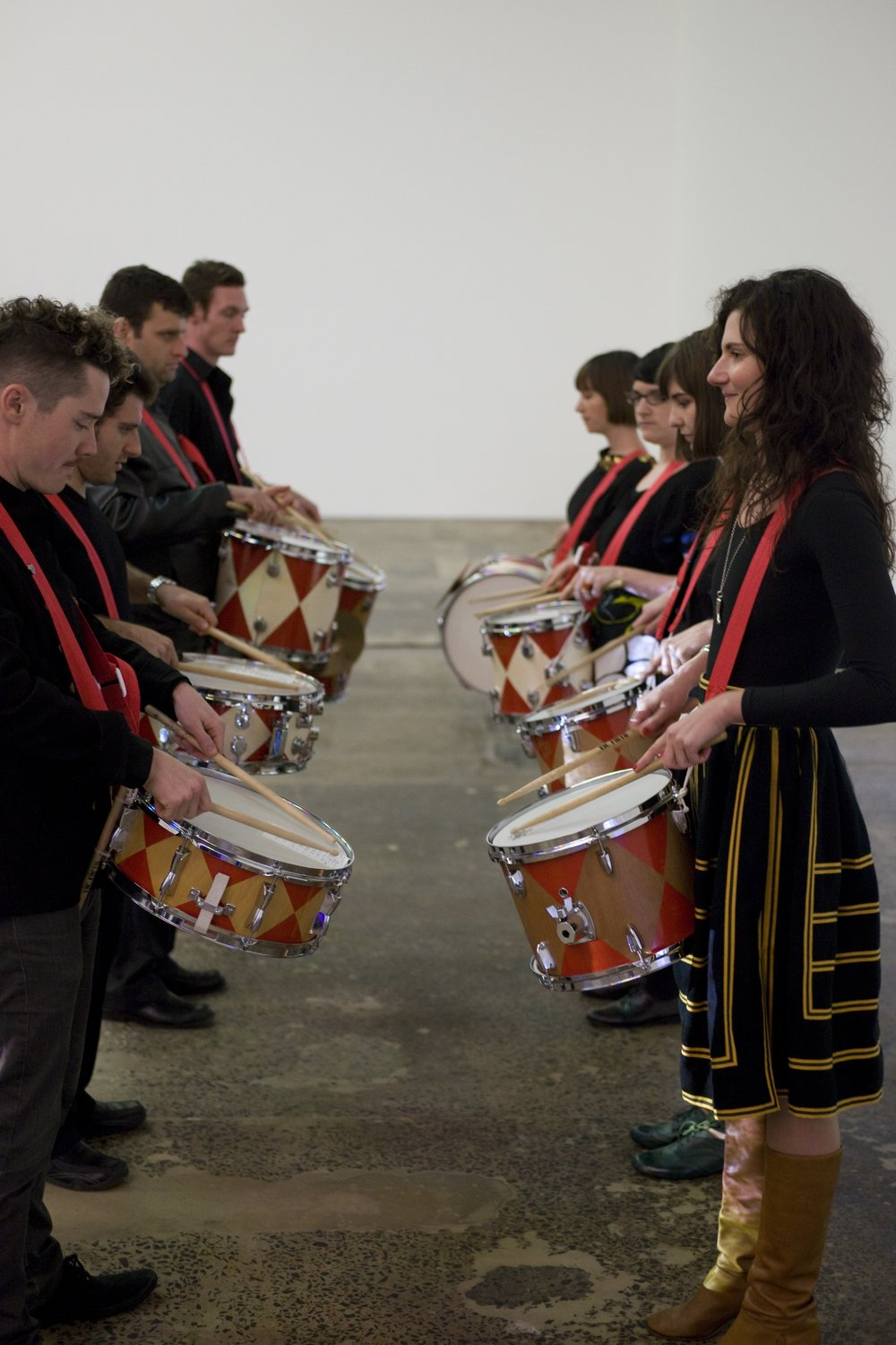 Drumming of Mistakes   Performance with Jared Underwood  Drummers v Painters   Make a Scene exhibition curated by Tania Doropoulos