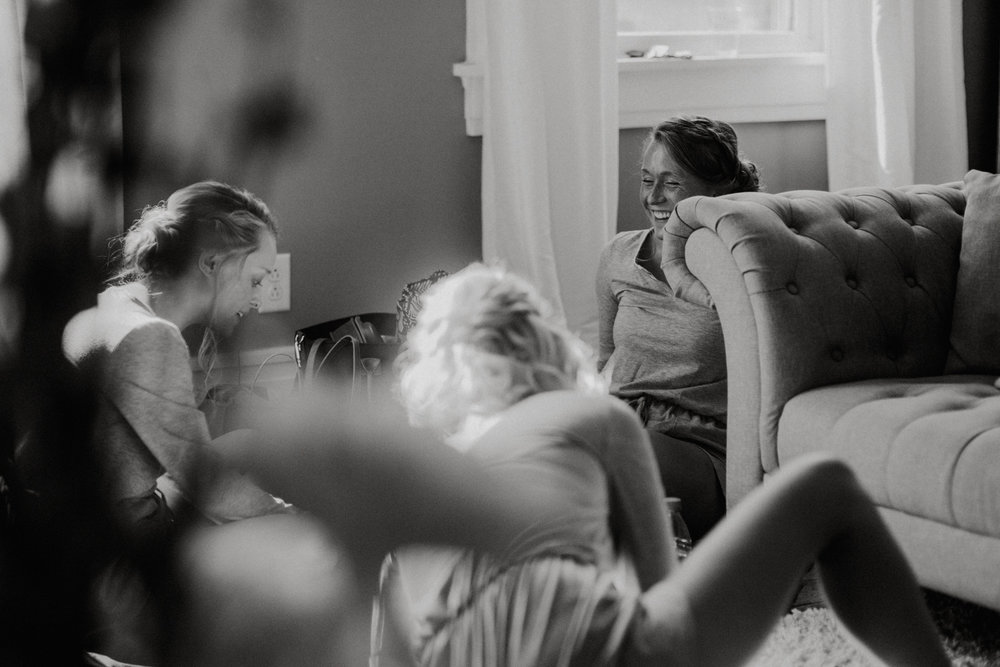we are flies on the wall - We can be out in the open but we love to sit back and observe. We were hanging back in the bridal suite while the bridesmaids chatted, laughed, joked, and finished some last minute things.