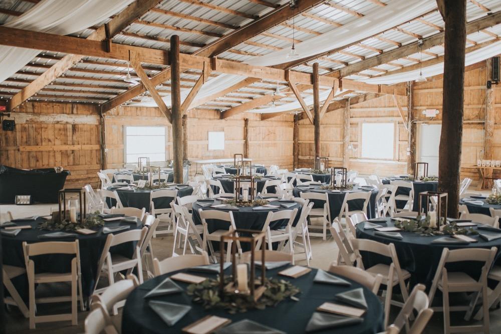 The reception area inside The Buckeye Barn