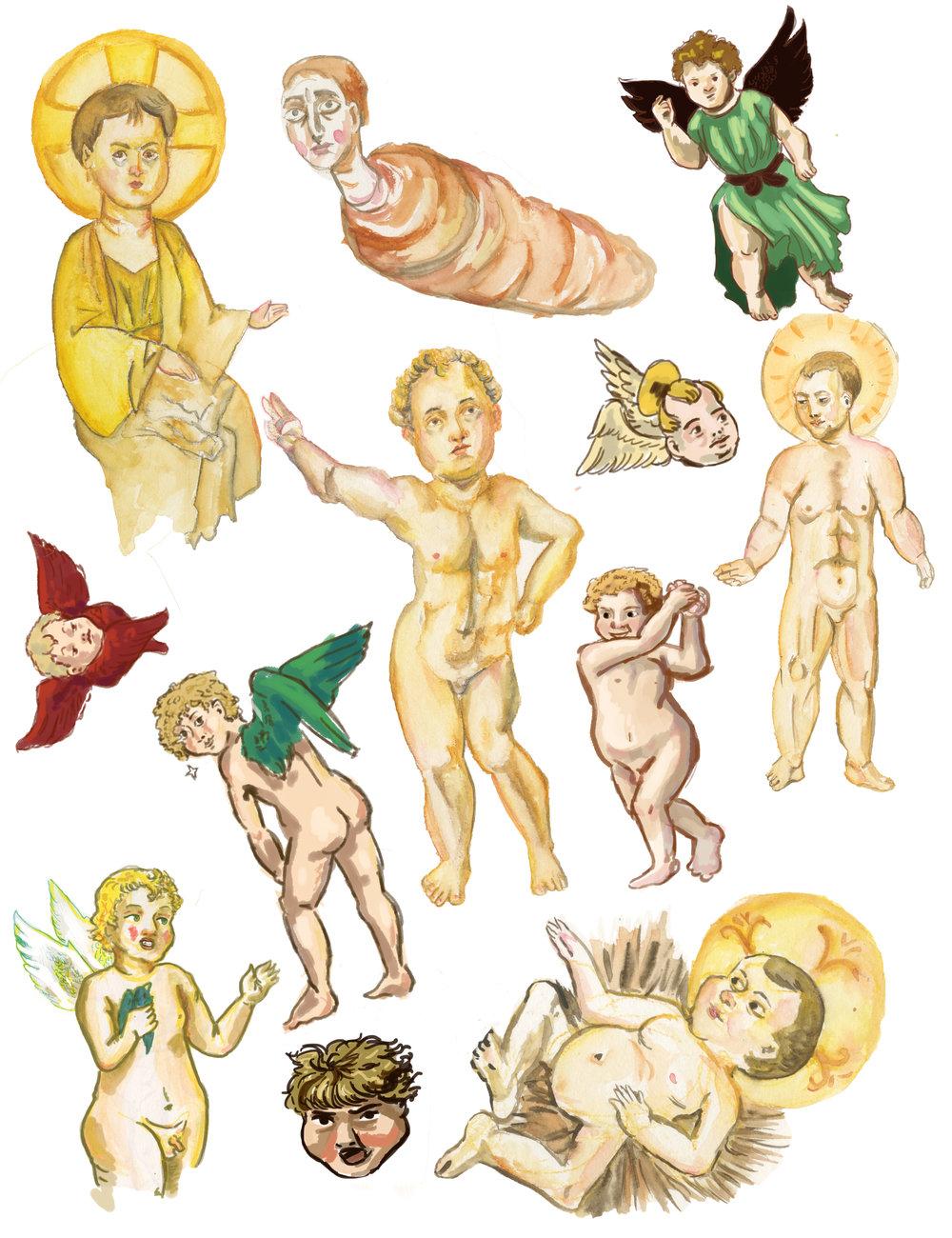 Ugly Baby Sticker Set -