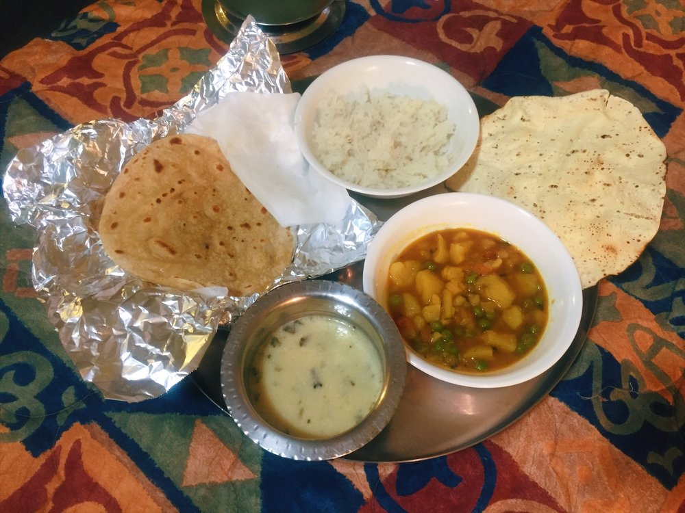 Home cooked Indian food at the Budget Inn, Sanderson TX