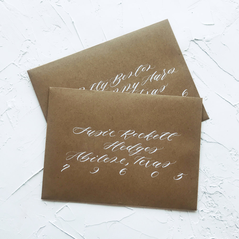 Custom Envelope Calligraphy Addressing | Sojourn Art and Ink