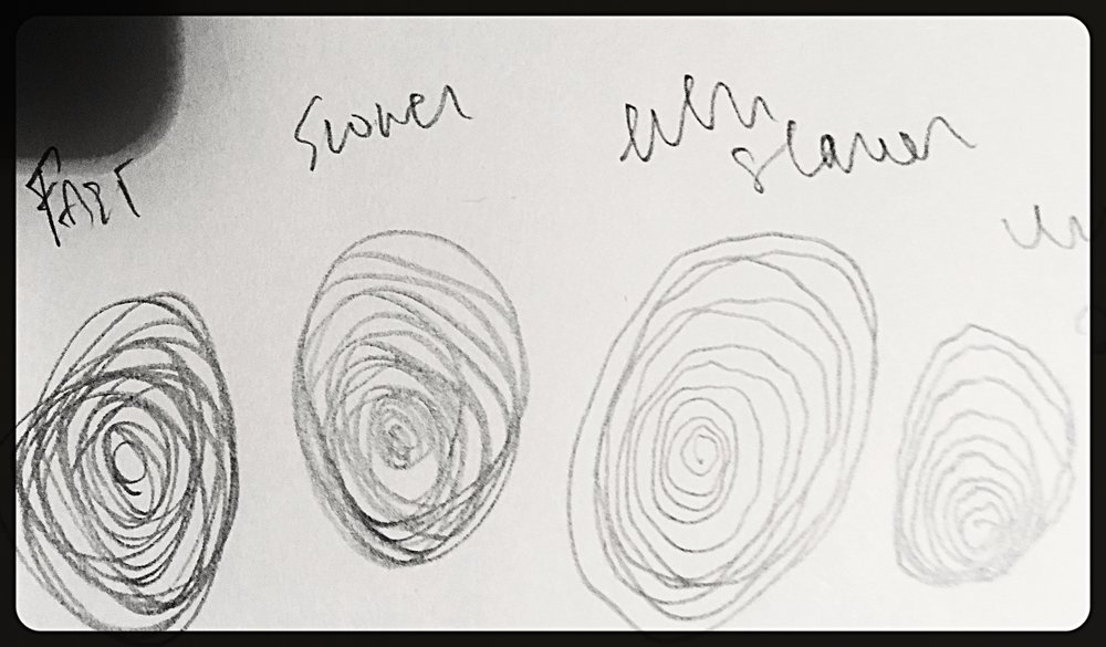 Drawing spirals - a comic.