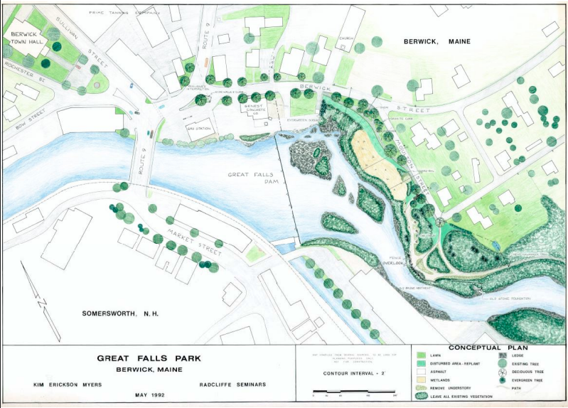 Kim Myers' 1992 concept plan, which coined the Great Falls Park name.