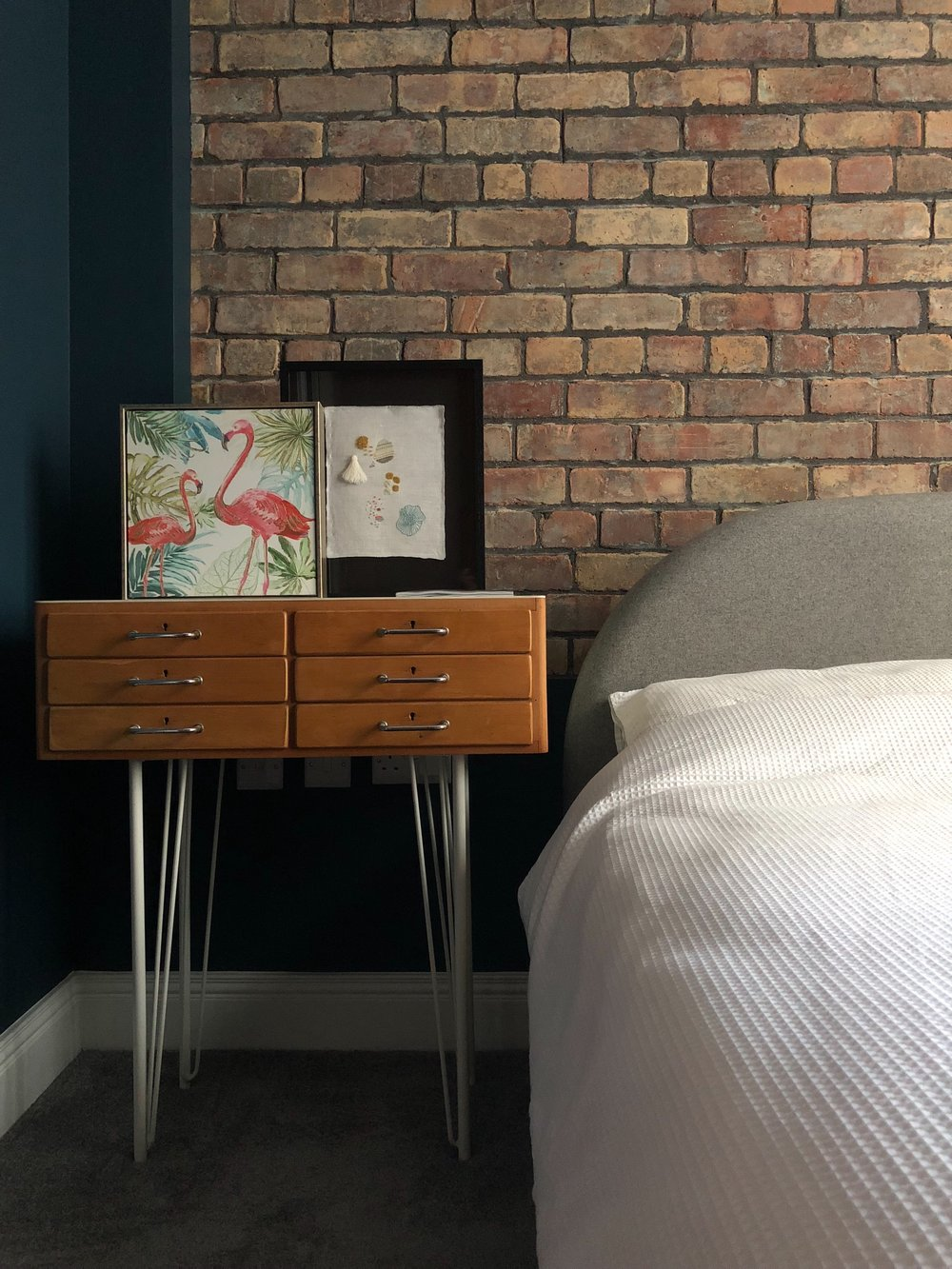 Hairpin leg bedside table from Oscar & Oscar, Belfast