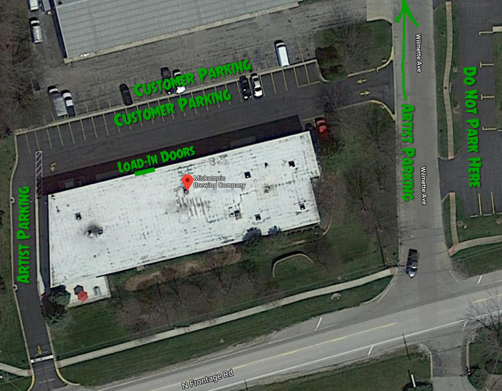 Parking along Wilmette Ave is available if (when) the parking lot fills up.