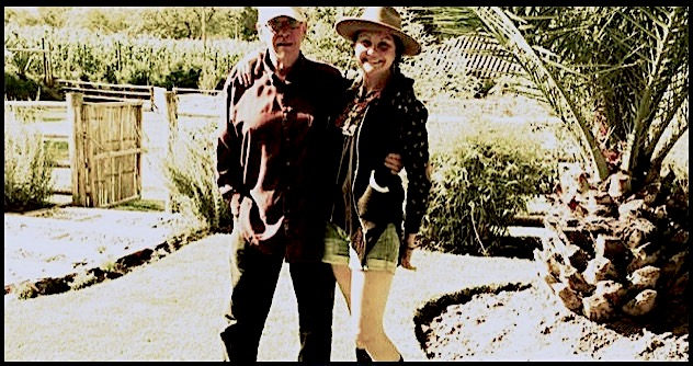 Deborah and her Father Ron Ellis on the finca in Ecuador