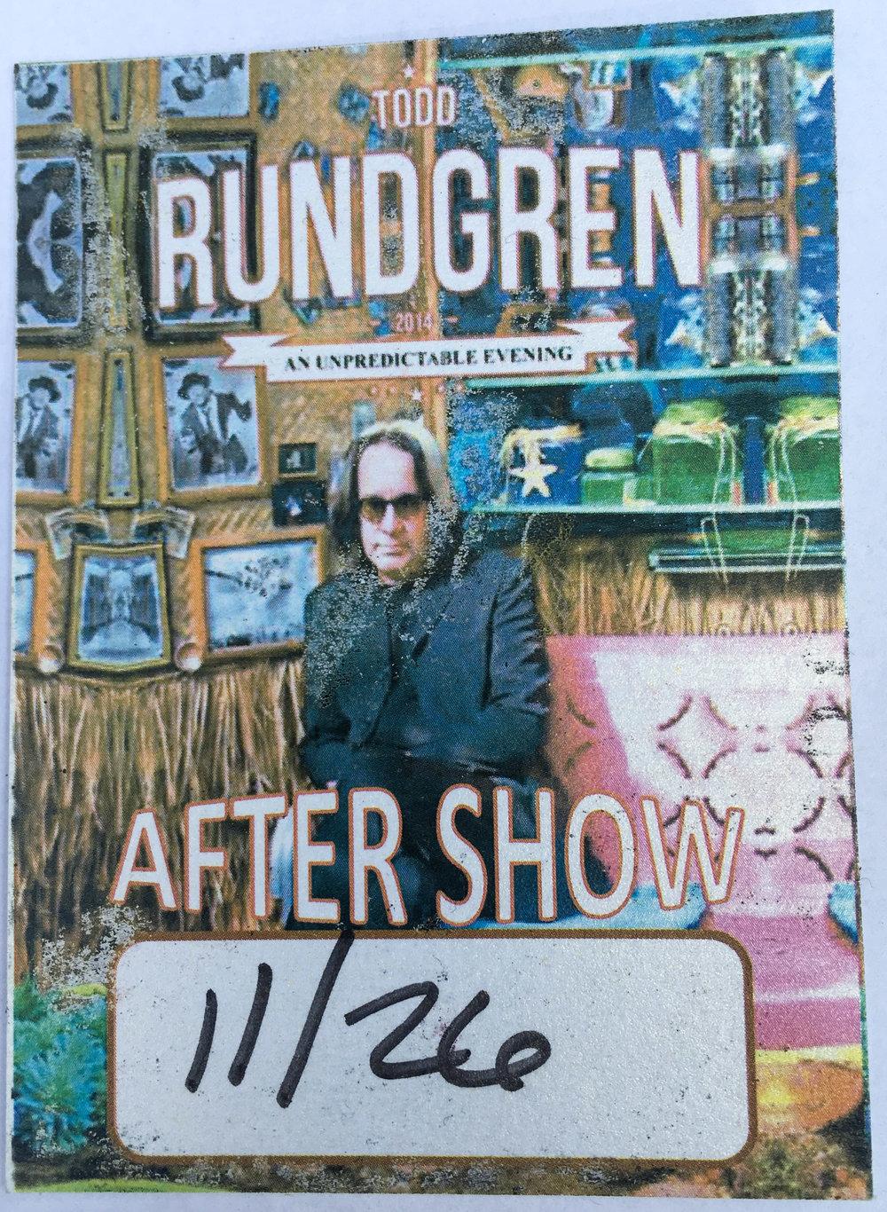 Todd Rundgren 11-26-2014